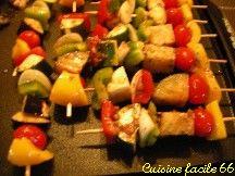 Brochettes de légumes d'été à la plancha, marinade Méditerranéenne