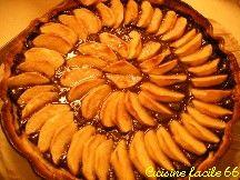 Tarte aux pommes, chocolat, noix de coco