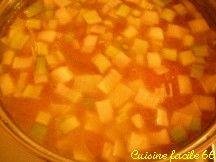 Soupe de brunoises de légumes