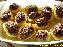 Pommes de terre farcies lancienne - Pomme de terre farcie chair a saucisse ...