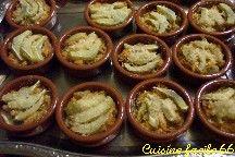 Cassolettes de cœur d'artichaut au crabe
