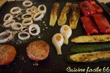 Calamars à la plancha et son Escalivade de légumes