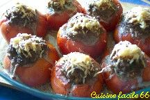 Tomates farcies au boeuf