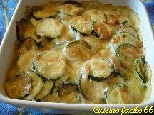 Gratin de courgettes sauce béchamel et parmesan