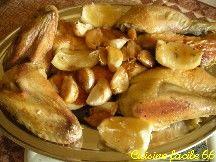 Poulet rôti aux quarante gousses d'ail
