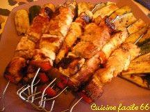 Brochettes de poulet au miel à l'orientale