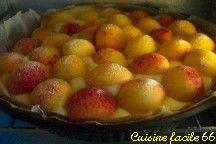 Tarte aux abricots du Roussillon, crème à la vanille