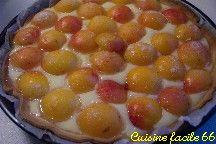 Tarte aux abricots du Roussillon sur crème au muscat