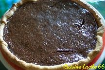 Tarte au chocolat et orange