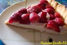 Tarte aux fraises à la crème au muscat de Rivesaltes