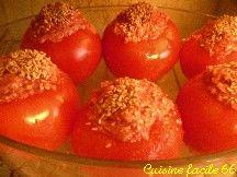 Tomates farcies à l'orientale au sésame
