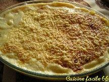 Gratin de salsifis et pommes de terre à la béchamel
