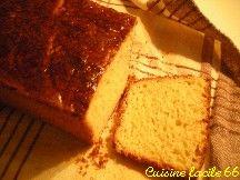 Brioche traditionnelle, format rectangulaire (moule à cake)