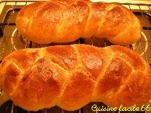 Tresse briochée à la levure de boulangerie