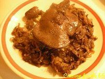 Foie et rognons de chevreuil aux oignons, en cocotte