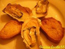 Huîtres chaudes gratinées au sabayon au safran