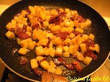 Pommes de terre sautés aux gésiers de canard confits