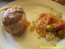Paupiettes de veau aux olives, sauce tomate