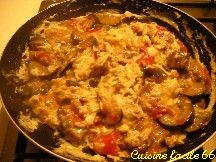 Omelette ratatouille façon piperade