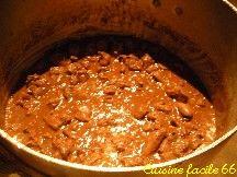 Chevreuil en civet, sauce chasseur