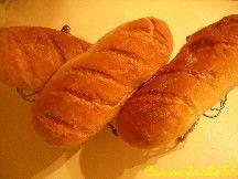 """Pain """"bâtard"""" à la levure de boulangerie (3 pains de 260 gr)"""