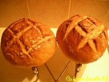 Pain à la levure de boulangerie (2 boules de 380 gr)