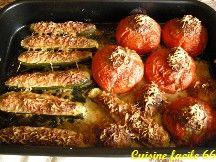 Tomates et courgettes farcies traditionnelles (façon cuisine de maman)