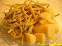 Haricots beurre et pommes de terre nouvelles (cuisson à l'anglaise)