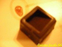 Ganache chocolat noir, amande, pour fourrage chocolat de Noël