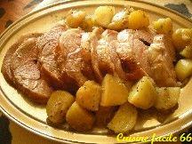 Épaule d'agneau roulée en cocotte aux pommes de terre