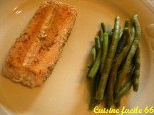 Pavé de saumon sauvage à l'aneth et haricots verts