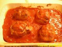 Paupiettes de veau à la tomate au four façon milanaise