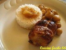 Paupiettes de veau au four aux oignons et champignon de Paris